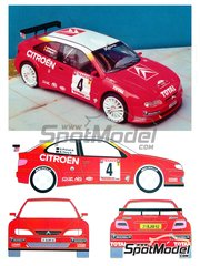 Renaissance Models: Model car kit 1/24 scale - Citroen Xsara Kit-Car #4 - Bruno Thiry (BE) + Stéphane Prévot (BE) - Ypres Rally 2000 - resin multimaterial kit