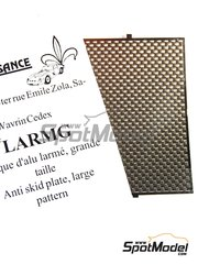Renaissance Models: Engraved plate 1/43 scale - Anti slip plate with large pattern - photo-etched parts