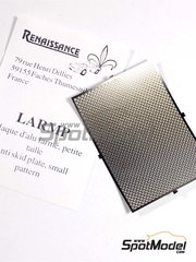 Renaissance Models: Engraved plate 1/43 scale - Anti slip plate with small pattern - photo-etched parts