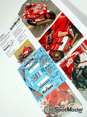 Renaissance Models: Marking / livery 1/12 scale - Ducati Desmosedici GP5 Marlboro Alice #7, 65 - French Moto GP Grand Prix 2005 - water slide decals and assembly instructions - for Tamiya references TAM14101 and 14101