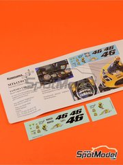 Renaissance Models: Decals 1/12 scale - Yamaha YZR-M1 Motul #46 - Valentino Rossi (IT) - Laguna Seca Grand Prix 2005 - for Tamiya reference TAM14115