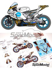Renaissance Models: Decals 1/12 scale - Honda RC211V  Batman begins Konica Minolta #6 - Germany Moto GP Grand Prix 2005 - for Tamiya references TAM14097 and 14097