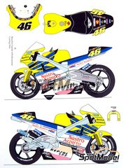 Renaissance Models: Transkit 1/12 scale - Honda NSR500 Nastro Azzurro #46 - Valentino Rossi (IT) - World Championship 2001 - resin parts, decals and photo-etched parts - for Tamiya kit TAM14082