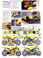 Renaissance Models: Calcas de agua escala 1/12 - Yamaha YZR-M1 Camel Nº 46, 5 - Valentino Rossi (IT), Colin Edwards (US) - Campeonato del Mundo 2006 - para la referencia de Tamiya TAM14115