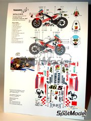 Renaissance Models: Marking / livery 1/12 scale - Yamaha YZR-M1 #46, 5 - Valentino Rossi (IT), Colin Edwards (US) - Australian Moto GP Grand Prix 2007 - water slide decals and assembly instructions