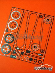 Renaissance Models: Detail up set 1/12 scale - Yamaha YZR-M1 2004, 2005, 2006, 2007 and 2008 - photo-etched parts and assembly instructions - for Tamiya references TAM14098, TAM14100 and TAM14115