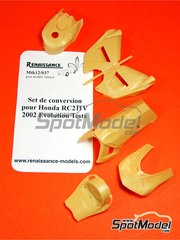 Renaissance Models: Transkit 1/12 scale - Honda RC211V evolution test 2002 - resins - for Tamiya references TAM14092, TAM14095 and TAM14096