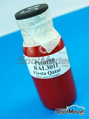 Renaissance Models: Paint - Ral3011 - Fiesta Qatar red - for Racing Decals 43 reference RD24-009, or Renaissance Models reference TK24-365