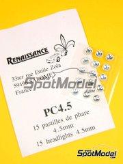 Detail  by Renaissance Models - Round focus white 4.5mm    - 15 units image