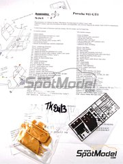 Renaissance Models: Transkit 1/24 scale - Porsche 911 GT1 - photo-etched parts and resin parts - for Tamiya kit