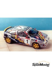 Renaissance Models: Marking / livery 1/24 scale - Renault Megane Coupe 16V Elf #1 - Jacques Bernard 'Jacky' Ickx (BE) + Vanina Ickx (BE) - 24 Hours SPA Francorchamps 1998 - water slide decals and assembly instructions - for Renaissance Models reference TK24-010