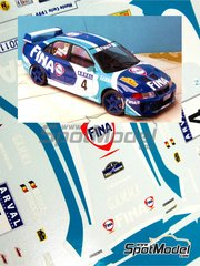 Renaissance Models: Transkit 1/24 scale - Mitsubishi Lancer Evo V Group N Fina - Marc Duez (BE) + Philippe Dupuy (FR) + Philippe Droeven (BE) - Montecarlo Rally 1999 - resin parts and decals - for Tamiya reference TAM24203