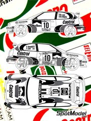 Renaissance Models: Decals 1/24 scale - Toyota Corolla WRC Castrol #10, 7 - Freddy Loix (BE) + Sven Smeets (BE), Didier Auriol (FR) + Denis Giraudet (FR) - Sanremo Rally 1997