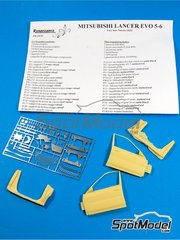 Renaissance Models: Transkit 1/24 scale - Mitsubishi Lancer Evo V - VI - resin parts and photo-etched parts - for Tamiya reference TAM24203