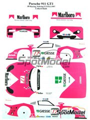Renaissance Models: Marking / livery 1/24 scale - Porsche 911 GT1 Evo 97 Marlboro JB Racing #17 - Emmanuel Collard (FR) + Mauro Baldi (IT) - Sebring 1997 - water slide decals and assembly instructions - for Tamiya references TAM24186 and 24186