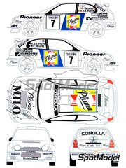 Renaissance Models: Decals 1/24 scale - Toyota Corolla WRC Pluma #7 - Patrick Snijers (BE) + Eddy van der Pluym (BE) - Condroz Rally 1999