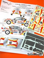Renaissance Models: Marking / livery 1/24 scale - Subaru Impreza WRC Airtel #18 - Luis Climent (ES) + Alex Romaní (ES) - RAC Rally 1999 - water slide decals and assembly instructions - for Tamiya reference TAM24218