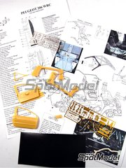 Renaissance Models: Detail up set 1/24 scale - Peugeot 206 WRC - CNC metal parts, assembly instructions, photo-etched parts and resin parts - for Tamiya references TAM24267 and 24267