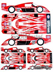 Renaissance Models: Marking / livery 1/24 scale - Toyota TS020 GT-One Esso #27 - Ukyo Katayama (JP) + Toshio Suzuki (JP) + Keiichi Tsuchiya (JP) - 24 Hours Le Mans 1998 - photo-etched parts, water slide decals and assembly instructions - for Tamiya reference TAM24222