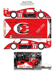 Renaissance Models: Marking / livery 1/24 scale - Toyota TS020 GT-One Venture Safenet #2 - Thierry Boutsen (BE) + Allan McNish (GB) + Ralf Kelleners (DE) - 24 Hours Le Mans 1999 - water slide decals and assembly instructions - for Tamiya reference TAM24222