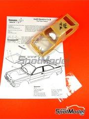 Renaissance Models: Transkit escala 1/24 - Audi Quattro Grupo B 1982 y 1983 - carroceria y fotograbados - para la referencia de Revell REV07246, o la referencia de Tamiya TAM24036