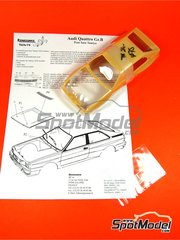 Renaissance Models: Transkit escala 1/24 - Audi Quattro Grupo B 1982 - 1983 - carroceria y fotograbados - para kit de Revell REV07246, o kit de Tamiya TAM24036