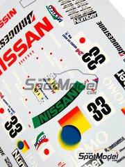Renaissance Models: Marking / livery 1/24 scale - Nissan R390 GT1 Jomo Jomo #33 - Satoshi Motoyama (JP) + Masami Kageyama (JP) + Takuya Kurosawa (JP) - 24 Hours Le Mans 1998 - for Tamiya references TAM24192 and 24192