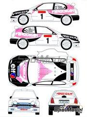 Renaissance Models: Decals 1/24 scale - Toyota Corolla WRC Vergokan #1 - Pieter Tsjoen (BE) - Boucles de SPA 2001