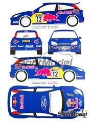 Renaissance Models: Transkit 1/24 scale - Ford Focus WRC #12 - Baumschlager + Klaus Wicha (DE) - ADAC Deutschland Rally 2001 - resin parts and decals - for Tamiya references TAM24217 and 24217