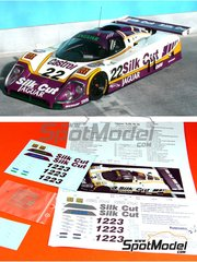 Renaissance Models: Marking / livery 1/24 scale - Jaguar XJR-9 Silk Cut #1, 2, 3, 21, 22 - Martin Brundle (GB), Henri Pescarolo (FR), Jan Lammers (NL), Derek Daly (IE), Danny Sullivan (US) - 24 Hours Le Mans 1988 - photo-etched parts, resin parts, turned metal parts, water slide decals and assembly instructions - for Tamiya reference TAM24084