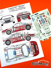 Renaissance Models: Marking / livery 1/24 scale - Lancia Rally 037 Bastos Texaco #3 - Patrick Snijers (BE) + Dany Colebunders (BE) - Haspengow Rally 1985 - water slide decals, assembly instructions and painting instructions - for Hasegawa references 20264, 20277, 20299, 25030 and HACR30, or Model Factory Hiro references MFH-K504, MFH-K505, MFH-K506, MFH-K507, MFH-K508 and MFH-K550