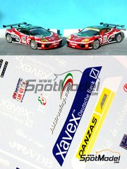 Renaissance Models: Marking / livery 1/24 scale - Ferrari 360 Modena JMB Racing #70, 71 - 24 Hours Le Mans 2002 - water slide decals and assembly instructions - for Tamiya kits TAM24228 and TAM24298