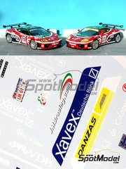 Renaissance Models: Marking / livery 1/24 scale - Ferrari 360 Modena JMB Racing #70, 71 - 24 Hours Le Mans 2002 - water slide decals and assembly instructions - for Tamiya references TAM24228 and TAM24298