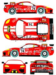 Renaissance Models: Marking / livery 1/24 scale - Ferrari 360 Modena Auto Palace #74 - Guillaume Gomez (FR) + Ryo Fukuda (JP) + Laurent Cazenave (FR) - 24 Hours Le Mans 2002 - for Tamiya references TAM24228, 24228, TAM24298 and 24298