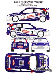Renaissance Models: Marking / livery 1/24 scale - Ford Focus WRC Mobil 1 #3 - Janusz Kulig (PL) + Jaroslaw Baran (PL) - Ypres Rally 2002 - water slide decals and assembly instructions - for Tamiya reference TAM24217