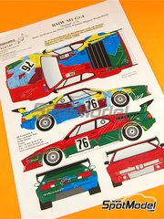 Renaissance Models: Marking / livery 1/24 scale - BMW M1 Group 4 Poulain + Mignot + Winkelhock #76 - 24 Hours Le Mans 1979 - resin parts, turned metal parts, water slide decals and assembly instructions - for Revell kit REV07247