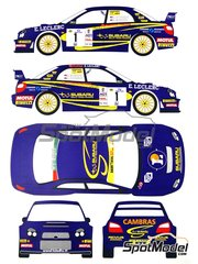 Renaissance Models: Marking / livery 1/24 scale - Subaru Impreza WRC E.Leclerc #1 - Benoît Rousselot (FR) + Gilles Mondésir (FR) - Alsace France Rally 2003 - water slide decals, assembly instructions and painting instructions - for Tamiya references TAM24240 and 24240