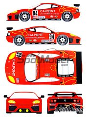 Renaissance Models: Marking / livery 1/24 scale - Ferrari 360 Modena Risi #94 - Ralf Kelleners (DE) + Anthony Lazzaro (US) + Terry Borcheller (US) - 24 Hours Le Mans 2003 - water slide decals and assembly instructions - for Tamiya references TAM24228 and TAM24298