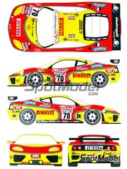 Renaissance Models: Marking / livery 1/24 scale - Ferrari 360 Modena  JMB Racing #70 - Fabio Babini (IT) + David Terrien (US) + Fabrizio de Simone Niquesa (IT) - 24 Hours Le Mans 2003 - water slide decals and assembly instructions - for Tamiya references TAM24228 and TAM24298