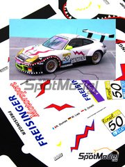 Renaissance Models: Marking / livery 1/24 scale - Porsche 911 GT3 RS Freisinger Motorsport #50 - Stéphane Ortelli (MC) + Romain Dumas (FR) + Marc Lieb (DE) - 24 Hours SPA Francorchamps 2003 - photo-etched parts, resin parts, water slide decals and assembly instructions - for Tamiya references TAM24229 and 24229