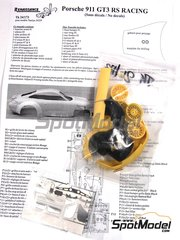 Renaissance Models: Transkit 1/24 scale - Porsche 911 GT3 RSR Racing - photo-etched parts, resin parts and tyres - for Tamiya reference TAM24229
