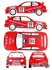 Renaissance Models: Decals 1/24 scale - Toyota Corolla WRC #22 - Markko Märtin (EE) + Toomas Kitsing (EE) - Sanremo Rally 1999