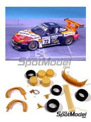 Renaissance Models: Transkit 1/24 scale - Porsche 911 GT3 Repsol #72 - Tomás Saldaña (ES) + Giovanni Lavaggi (IT) + Jesús Díez Villaroel (ES) - 24 Hours Le Mans 2000 - resins, decals and photo-etched parts - for Tamiya reference TAM24229