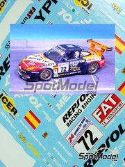 Renaissance Models: Marking / livery 1/24 scale - Porsche 911 GT3 Repsol YPF #72 - Tomás Saldaña (ES) + Giovanni Lavaggi (IT) + Jesús Díez Villaroel (ES) - 24 Hours Le Mans 2000 - resin parts, water slide decals and assembly instructions - for Tamiya reference TAM24229