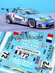 Renaissance Models: Marking / livery 1/24 scale - Porsche 911 GT3 RS Luc Alphand Aventures #72 - Luc Alphand (FR) + Christian Lavieille (FR) + Philippe Alméras (FR) - 24 Hours Le Mans 2004 - decals - for Tamiya kit TAM24229