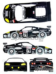 Renaissance Models: Marking / livery 1/24 scale - Ferrari 360 Modena JMB Racing #70 - Jean-René de Fournoux (FR) + Jaime Melo (BR) + Stéphane Daoudi (FR) - 24 Hours Le Mans 2004 - water slide decals and assembly instructions - for Tamiya kits TAM24228 and TAM24298