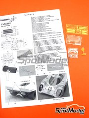 Renaissance Models: Detail up set 1/24 scale - Porsche 917K  - photo-etched parts, resin parts and assembly instructions - for Fujimi references FJ12173, FJ12188, FJ12198, FJ12199, FJ12214, FJ12236, FJ12261, FJ123592, FJ123882, FJ126074, FJ126135, FJ126142, FJ126159 and FJ126166
