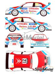 Renaissance Models: Transkit 1/24 scale - Citroen Xsara WRC Total #21 - Pykalisto + Ovaskainen - 1000 Lakes Finland Rally 2004 - decals and resin parts - for Heller reference 80769