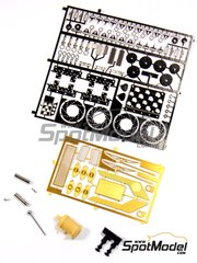 Renaissance Models: Detail up set 1/24 scale - Fiat 131 Abarth Group 4 - metal parts, photo-etched parts and assembly instructions - for Italeri references 3662, ITA3662, 3662S, ITA3690 and 3690, or Revell references REV07311 and 07311