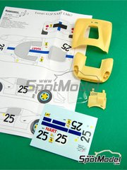 Renaissance Models: Transkit 1/24 scale - Ferrari 412 P Nart #25 - 24 Hours Le Mans 1967 - resin parts, vacuum formed parts, water slide decals and assembly instructions - for Fujimi reference HR-21